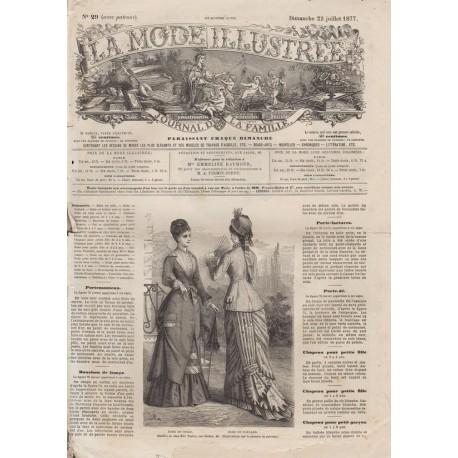 Revue complète de La Mode Illustrée 1877 N°29