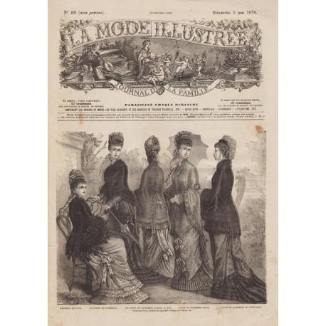 Revue La Mode Illustrée 1878 N°18