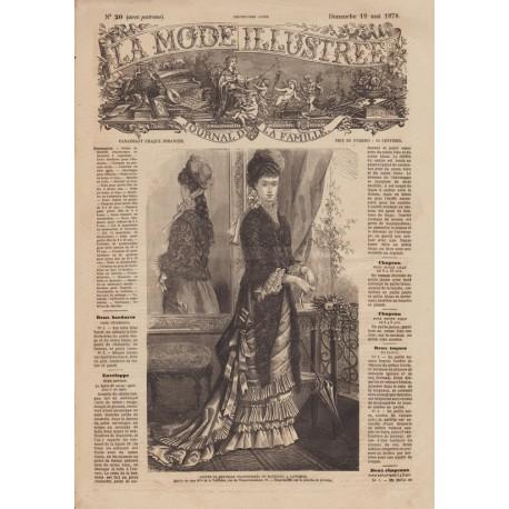 Complete magazine La Mode Illustrée 1878 N°20