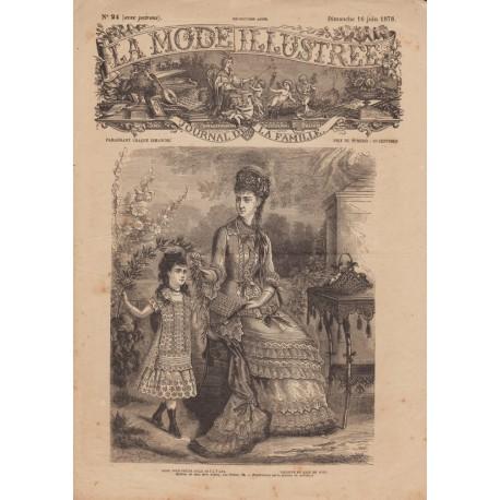 Complete magazine La Mode Illustrée 1878 N°24