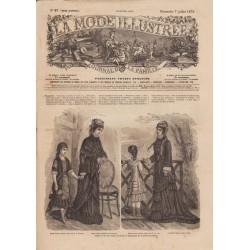 Complete magazine La Mode Illustrée 1878 N°27