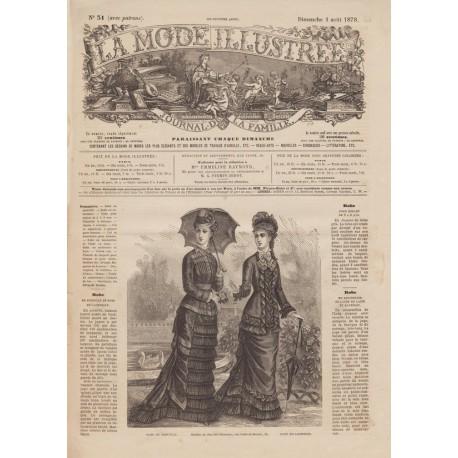 Revue lingerie de La Mode Illustrée 1878-31