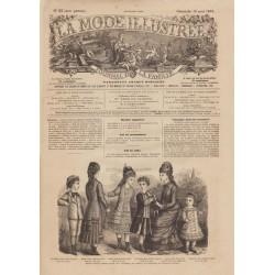 Complete magazine La Mode Illustrée 1878 N°33