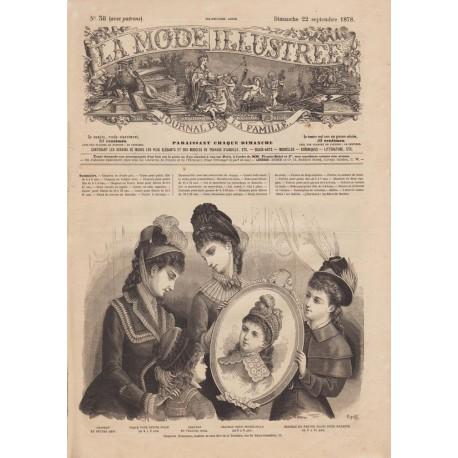 Revue La Mode Illustrée 1878 N°38