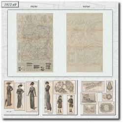 Sewing patterns La Mode Illustrée 1913 N°09