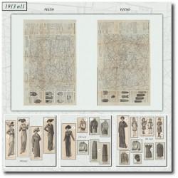Patrons de La Mode Illustrée 1913 N°11