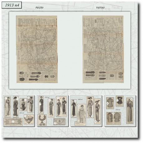 Sewing patterns La Mode Illustrée 1913 N°04