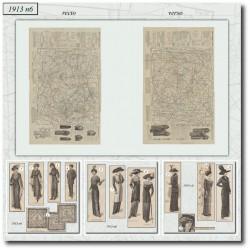 Patrons de La Mode Illustrée 1913 N°06