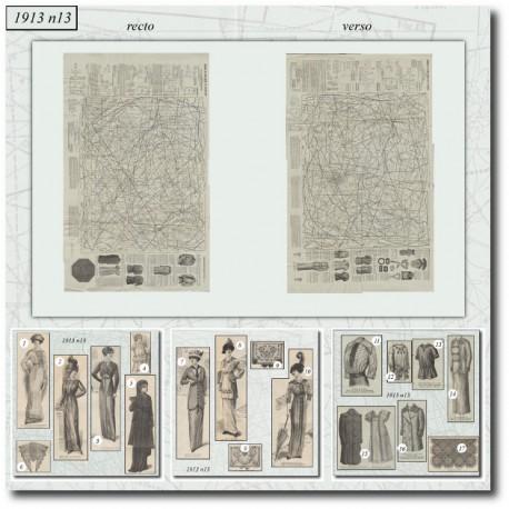 Patrons de La Mode Illustrée 1913 N°13
