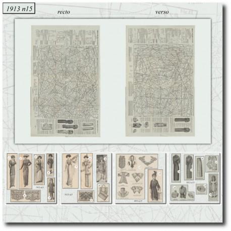 Sewing patterns La Mode Illustrée 1913 N°11