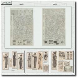 Patrons de La Mode Illustrée 1913 N°15