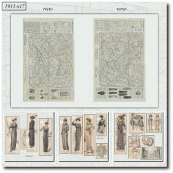 Sewing patterns La Mode Illustrée 1913 N°17