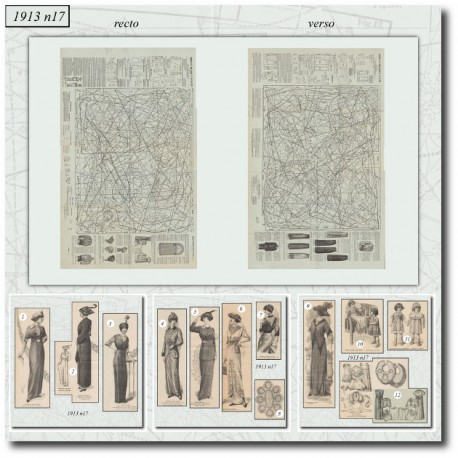Sewing patterns La Mode Illustrée 1913 N°15