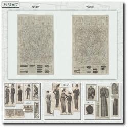 Patrons de La Mode Illustrée 1913 N°37