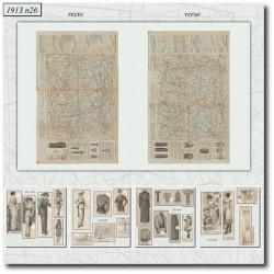 Sewing patterns La Mode Illustrée 1913 N°22