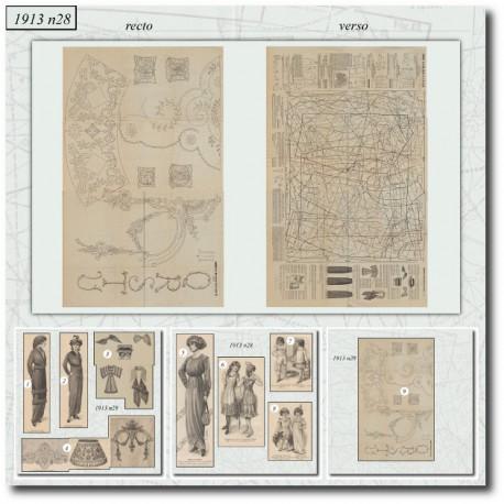 Sewing patterns La Mode Illustrée 1913 N°26