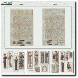 Sewing patterns La Mode Illustrée 1913 N°41