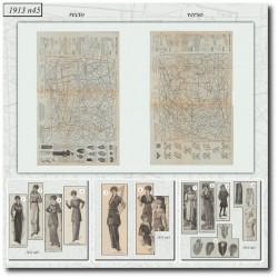 Sewing patterns La Mode Illustrée 1913 N°45