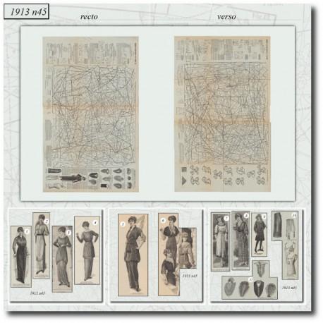 Sewing patterns La Mode Illustrée 1913 N°43