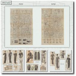 Sewing patterns La Mode Illustrée 1913 N°50