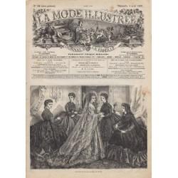 Complete magazine La Mode Illustrée 1869 N°12