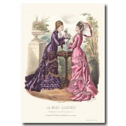Gravure La Mode Illustrée 1877 14