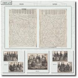 Patrons de La Mode Illustrée 1869 N°18
