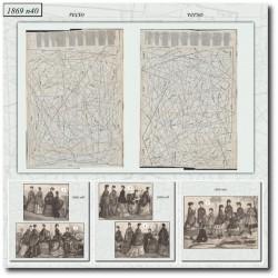 Patrons de La Mode Illustrée 1869 N°42