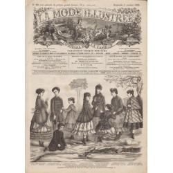 Complete magazine La Mode Illustrée 1869 N°40