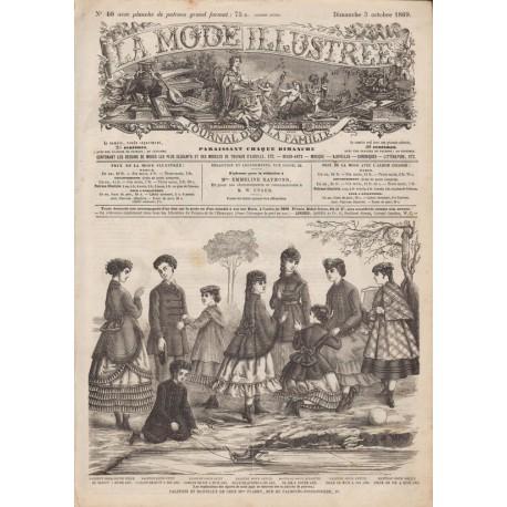 Complete magazine La Mode Illustrée 1869 N°36