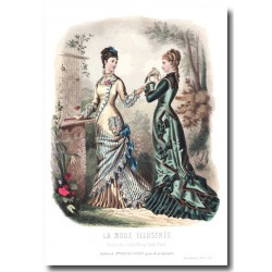 Gravure La Mode Illustrée 1877 28