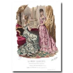 Gravure La Mode Illustrée 1877 52