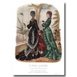 Gravure La Mode Illustrée 1877 02