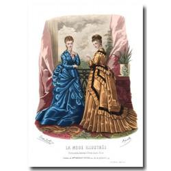 Gravure La Mode Illustrée 1874 18