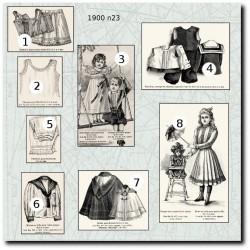 Patrons de La Mode Illustrée 1900 N°23