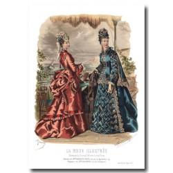 Gravure La Mode Illustrée 1874 27