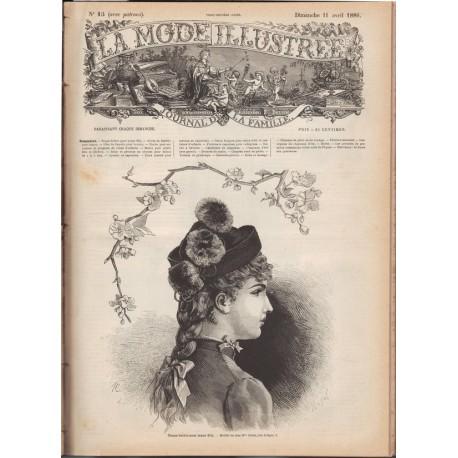 Complete magazine La Mode Illustrée 1886 N°15