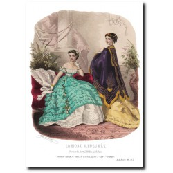 Gravure La Mode Illustrée 1867 1