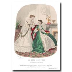 Gravure La Mode Illustrée 1867 5