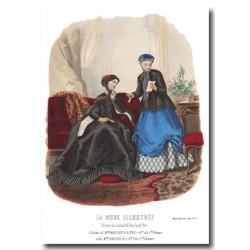 Gravure La Mode Illustrée 1867 6