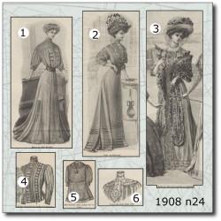 Patrons de La Mode Illustrée 1908 N°24