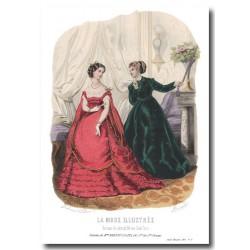 Gravure La Mode Illustrée 1867 8