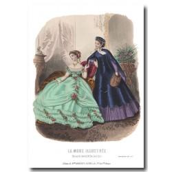 Gravure La Mode Illustrée 1867 9