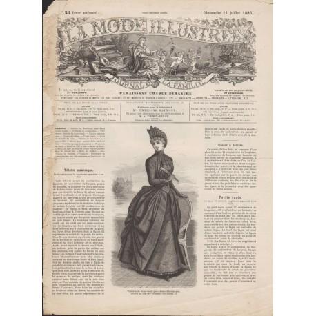 Complete magazine La Mode Illustrée 1886 N°28