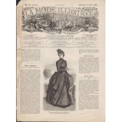 La Mode Illustrée 1886 N°28 1ère page