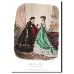 Gravure La Mode Illustrée 1867 12