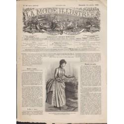 La Mode Illustrée 1886 N°41 1ère page