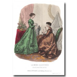 Gravure La Mode Illustrée 1867 13