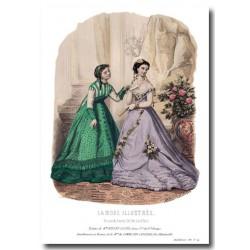 Gravure La Mode Illustrée 1867 14