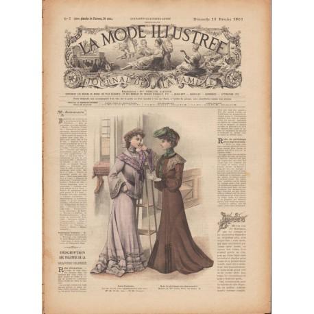 Complete magazine La Mode Illustrée 1903 N°7